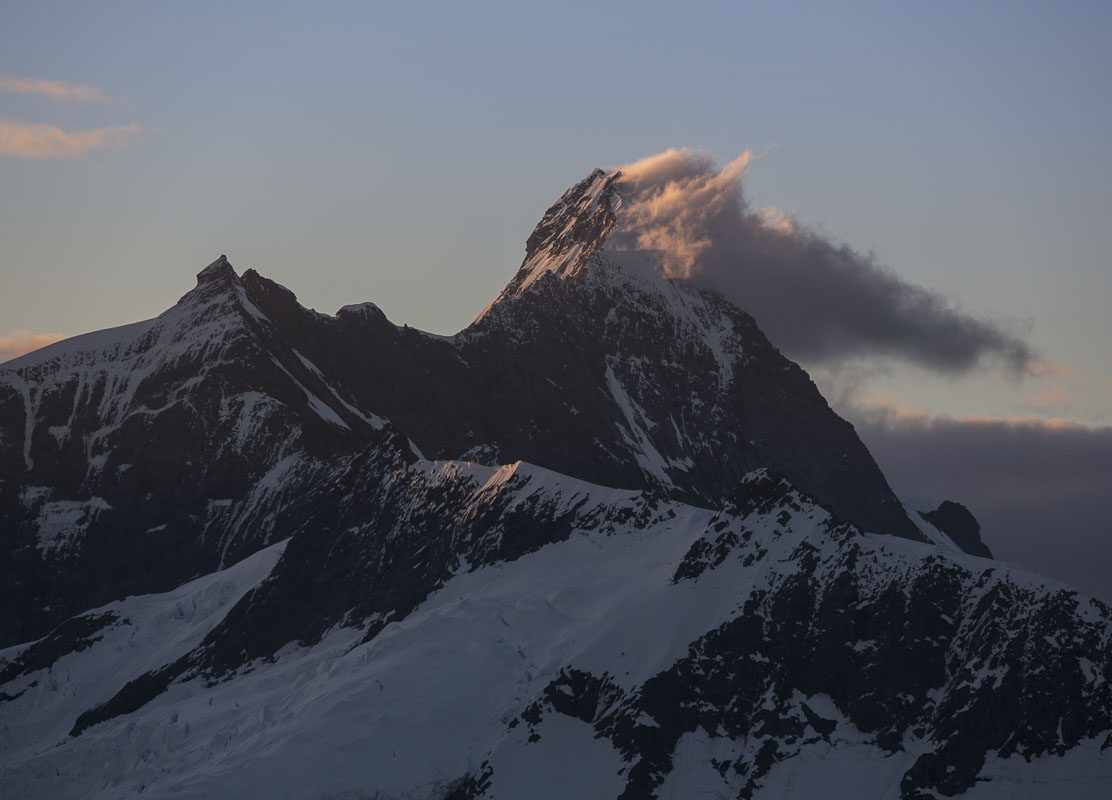 Last Light on Mt Aspiring